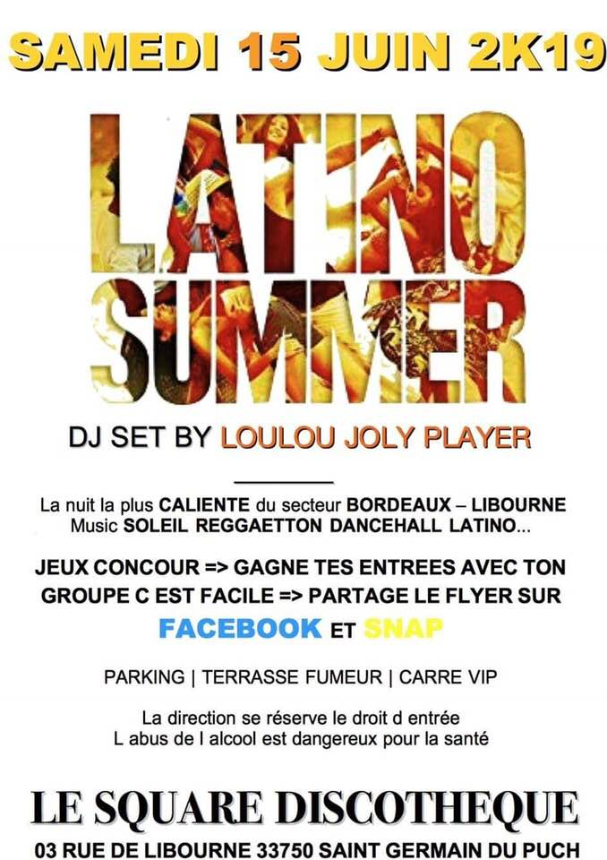 latino summer 15 juin 2019